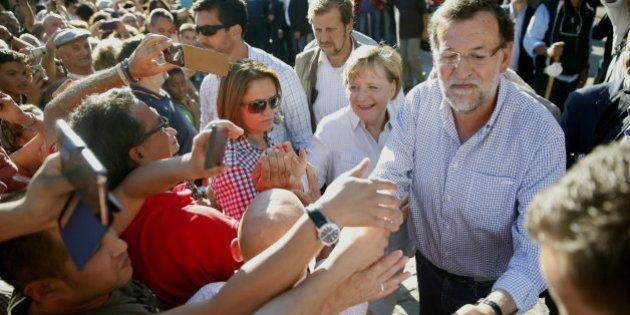 Merkel, recibida en Santiago con gritos de