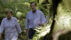 Merkel y Rajoy, de paseo por el Camino de