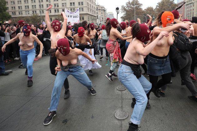 Manifestación contra la violencia machista en