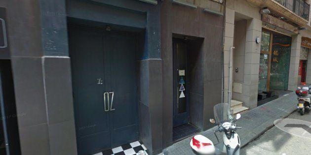 Puerta de la discoteca en la que supuestamente se conocieron la chica y los dos
