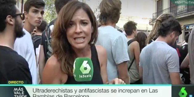 Aplauso por lo que dijo Mamen Mendizábal en esta manifestación en
