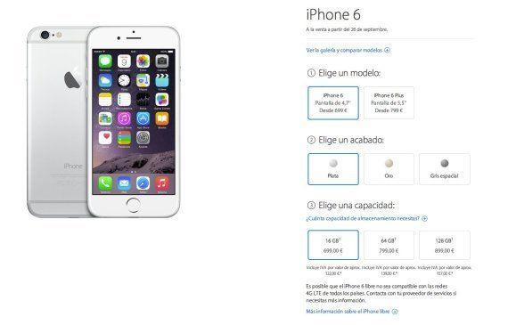 ¿Cuánto vale el iPhone 6 en España? Los precios de lo nuevo de Apple