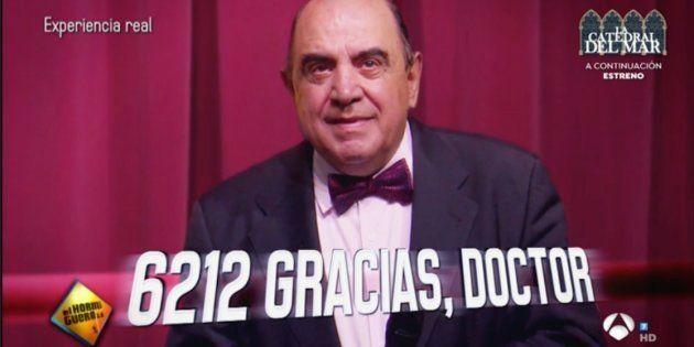 El emocionante homenaje en 'El Hormiguero' a un cirujano tras más de 6.000 operaciones de cáncer de
