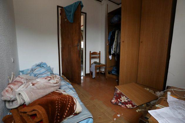 La habitación del imán Abdelbaki Es Satty tras el registro hecho por la policía. 19 de agosto de 2017....