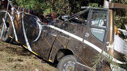 Detenido el conductor que chocó con un microbús de españoles en la