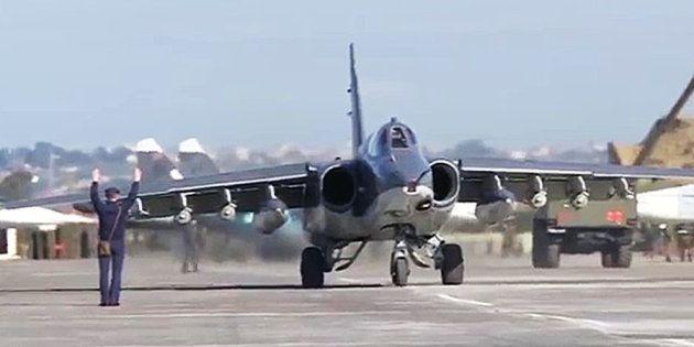 Aviones rusos de los destinados a la guerra en Siria, en una imagen de
