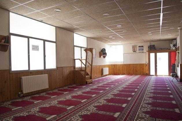 Vista del interior de la mezquita islámica Annour de Ripoll, donde ejerció el imán que captó a los