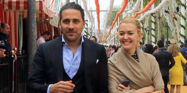 Marta Ortega y Carlos Torretta, durante la Feria de Abril 2018 en