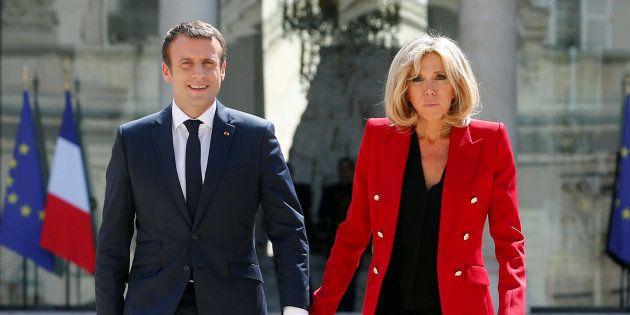 El matrimonio Macron en una imagen de