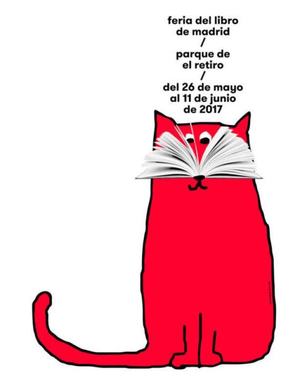Cartel de la Feria del Libro de Madrid 2017, diseñado por Ena Cardenal de la