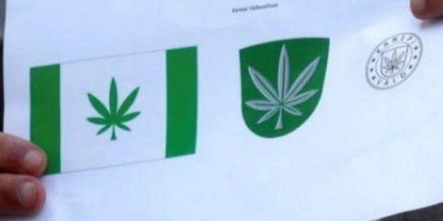 Una hoja de marihuana, símbolo de una ciudad de