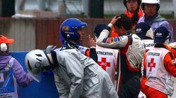 Un piloto de Fórmula 1, trasladado inconsciente al hospital tras un
