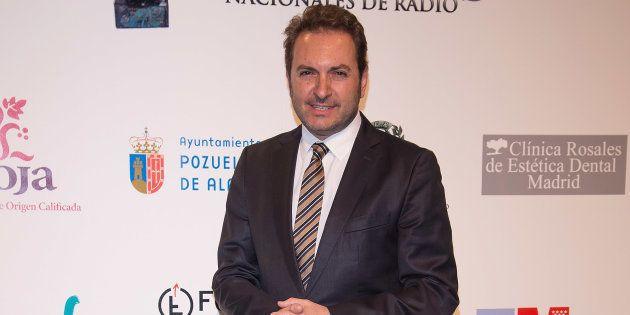 El periodista Albert Castillón en un acto en Pozuelo de