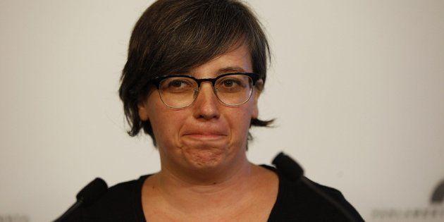 La presidenta del grupo parlamentario de la CUP, Mireia