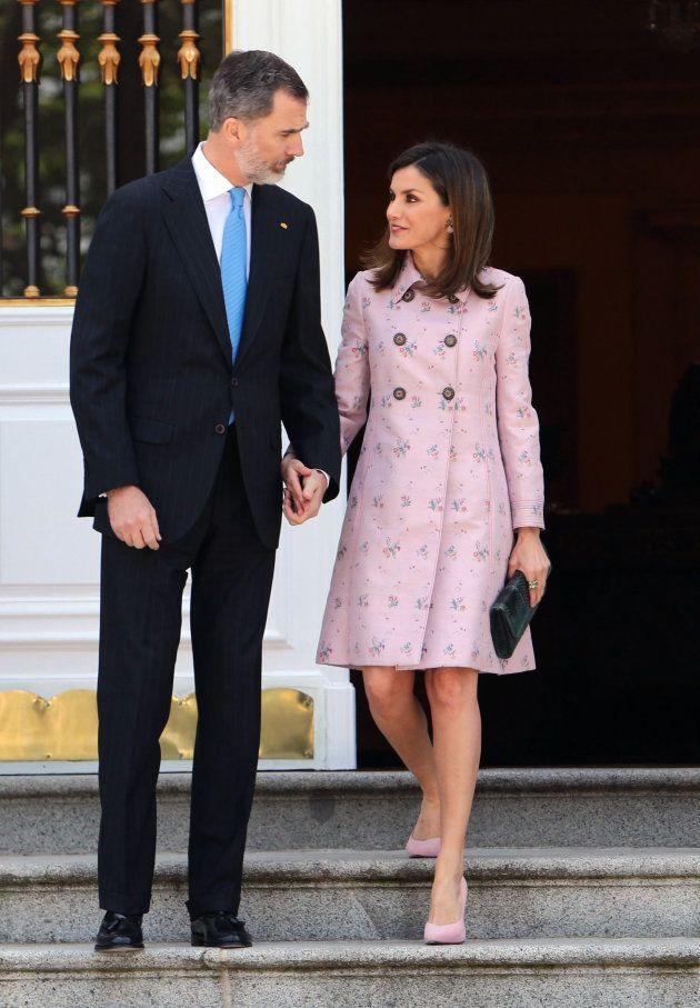 Los reyes Felipe y Letizia reciben en Madrid al presidente de México y a su mujer, el pasado 25 de