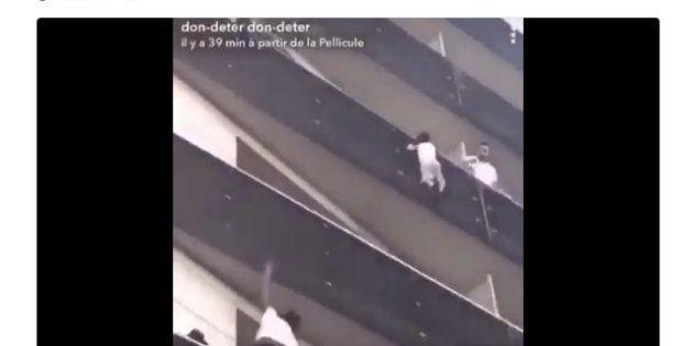 El espectacular rescate de un niño de cuatro años colgado de la fachada de un