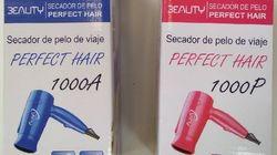 Alerta para retirar un secador de pelo que echa fuego al