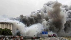 Las fotos del incendio que ha destruido la fábrica de Campofrío en