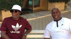 Magic Johnson y Samuel L. Jackson son confundidos por inmigrantes en Italia y se convierten en