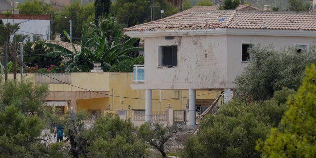 La casa de Alcanar (Tarragona), tras la