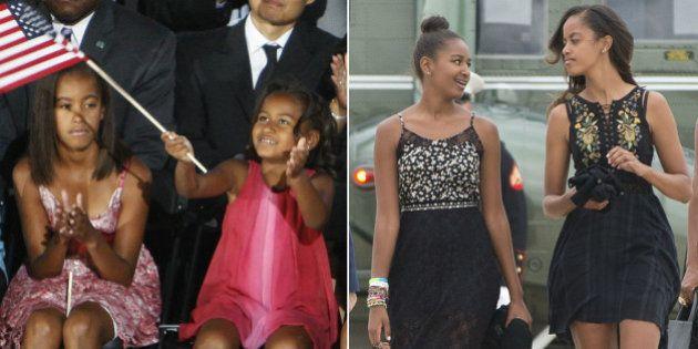 Así han cambiado las hijas de Barack Obama tras seis años en la Casa