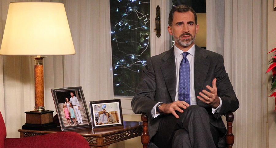 Mensaje del rey 2014: Foto interactiva de la sala de Zarzuela del primer discurso navideño de Felipe