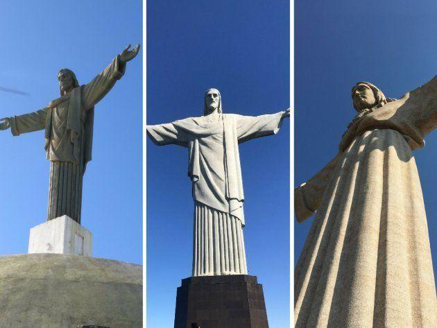 De izquierda a derecha, Cristo Redentor de Ciudad de Plata (República Dominicana), Cristo Redentor de...