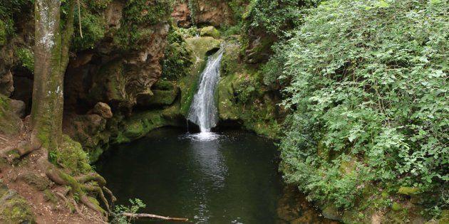 Paraje natural de los Baños de Popea, en Córdoba, donde murió uno de los