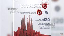 El Estado Islámico utiliza la Sagrada Familia en una infografía sobre los atentados de
