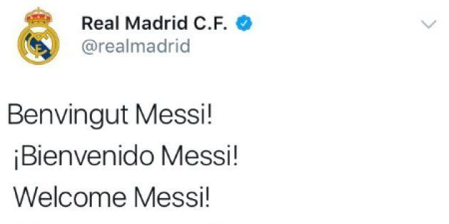 La cuenta de Twitter del Real Madrid,