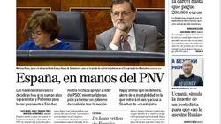 El PNV, protagonista de las portadas de este