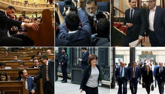 Las mejores imágenes de una jornada política
