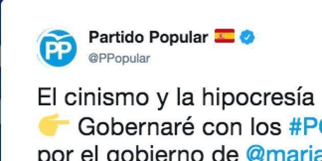 El dardo del Partido Popular a Pedro Sánchez en Twitter por lo que ha dicho de los