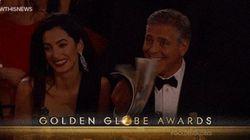 George Clooney en los Globos de Oro: el GIF de la gala que te quedaba por