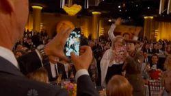 El 'photobomb' de Benedict Cumberbatch a Meryl Streep en los Globos de Oro