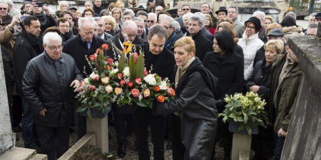 Zapatero visita la tumba de Azaña: