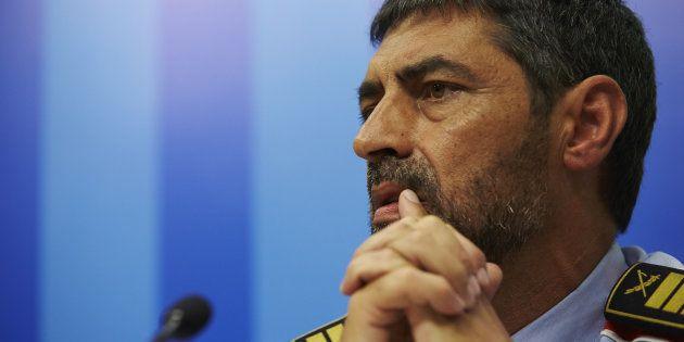 El mayor de los Mossos d'Esquadra, Josep Lluís Trapero, durante una rueda de prensa, el pasado 21 de