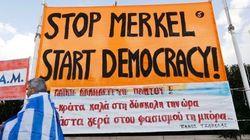 Miles de personas salen a la calle en Grecia en apoyo al Gobierno de