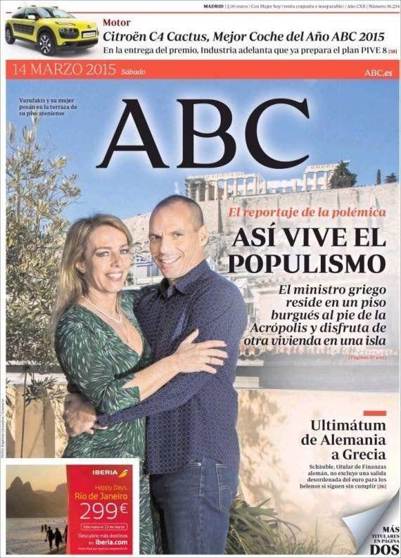 La portada de 'ABC' sobre Yanis Varoufakis: las reacciones en