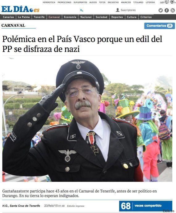 El PP vasco pide disculpas después de que un edil de Durango se disfrazara de
