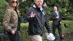 Fuertes críticas a Melania por el calzado con el que se ha presentado a ver los daños del huracán