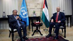 Los palestinos piden ayuda a Guterres para que Israel cumpla sus