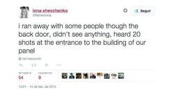 El tiroteo, narrado a través de Twitter y desde dentro por la líder de