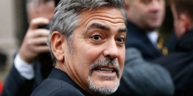 George Clooney en noviembre de 2015 en Edimburgo,