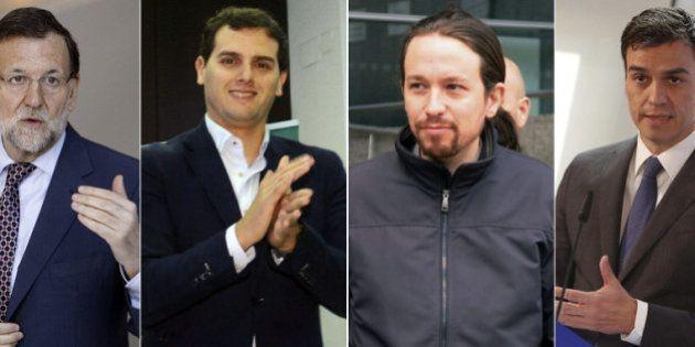 Podemos, PSOE, PP y Ciudadanos, cerca del empate, según una encuesta de