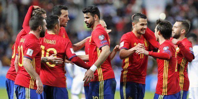 Los jugadores de la Selección celebran el segundo gol de los cuatro que le marcó a Israel el pasado marzo...