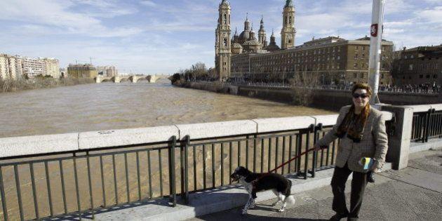 Zaragoza, en alerta naranja por la crecida del Ebro