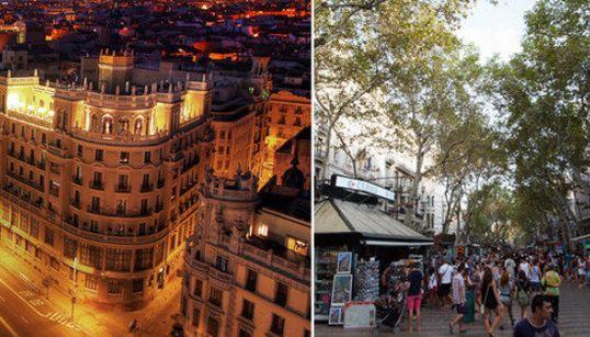 ¿Qué puesto ocupan Madrid y Barcelona entre las ciudades del