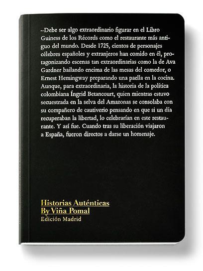 'Historias auténticas by Viña Pomal': anécdotas de artistas en restaurantes de