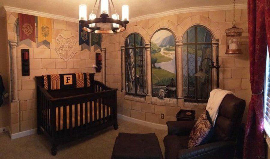 Dos padres crean una habitación de 'Harry Potter' para su hijo